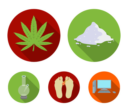 Drugs set collection icons in flat style vector symbol stock illustration web. Stock Vector - 95447871