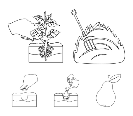 Garden, ecology, farmingand other web icon in outline style. Feed, plot, farm,icons in set collection.