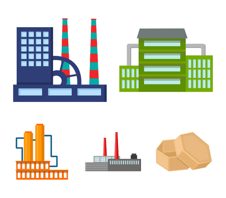 Industry, production.Factory set collection icons in cartoon style vector symbol stock illustration web. Ilustracja