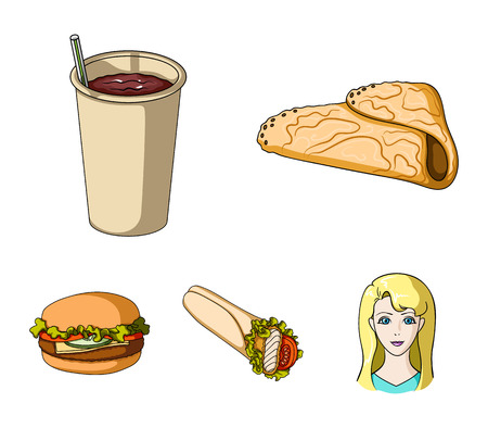 Fast, meal, eating and other web icon in cartoon style.Pancakes, flour, products, icons in set collection.