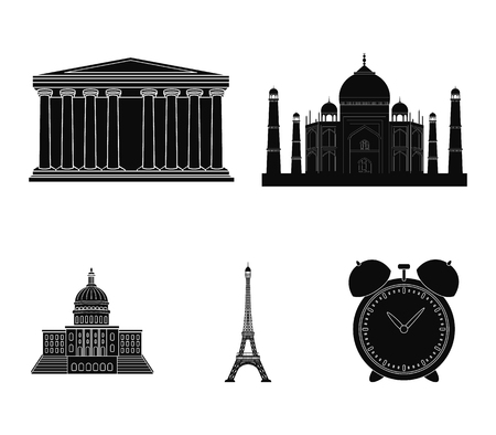 Building, interesting, place, tower .Countries country set collection icons in black style vector symbol stock illustration web.