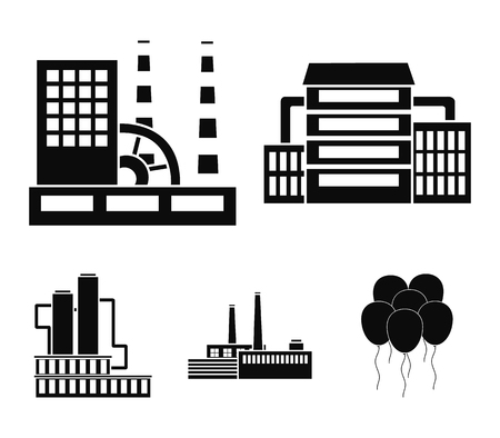 Industry, production.Factory set collection icons in black style vector symbol stock illustration web.