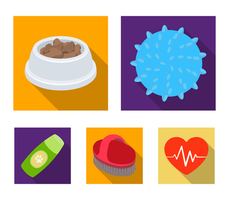 Pet shop set collection icons in flat style vector symbol stock illustration web. Vectores