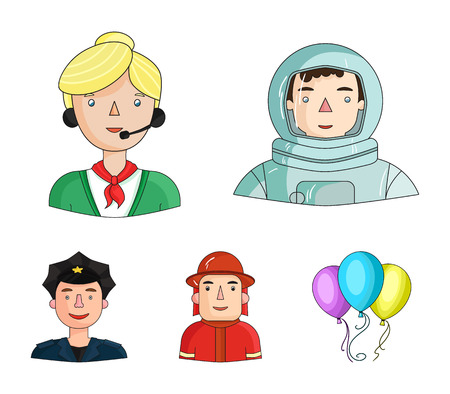 People of different professions set collection icons style vector symbol stock illustration web. Ilustracja