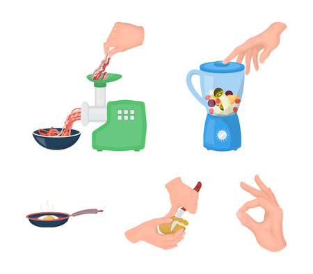 Kitchen equipment, appliances and other web icon in cartoon style icons in set collection.