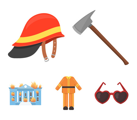 Fire departmentset set collection icons in cartoon style vector symbol stock illustration web. Illustration