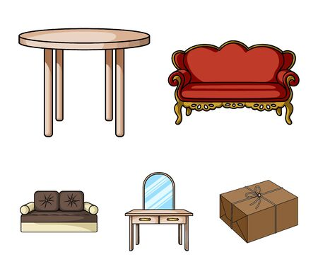 Furniture and home interiorset collection icons in cartoon style vector symbol stock illustration web. Illustration