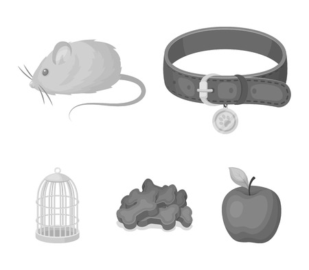 Pet shop set collection icons in monochrome style vector symbol stock illustration web.