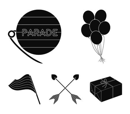 Balls, gay parade, arrows, flag. Gayset collection icons in black style vector symbol stock illustration web.