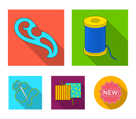 Various kinds of scarves, scarves and shawls. Scarves and shawls set collection icons in flat style vector symbol stock illustration web. Stock Illustratie