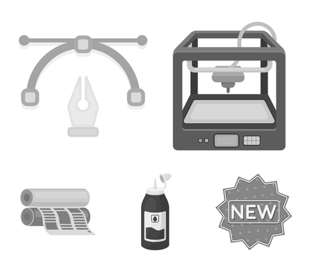 Typography set collection icons in monochrome style vector