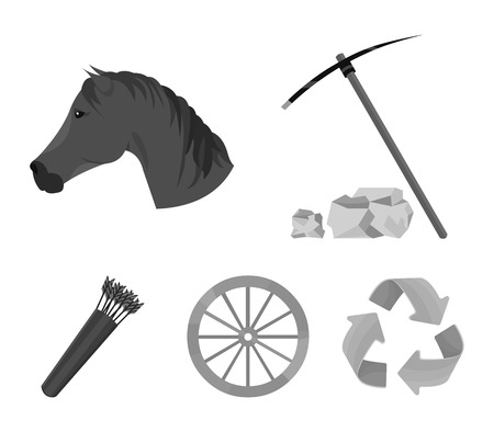 Wild west set collection icons in monochrome style vector Illustration