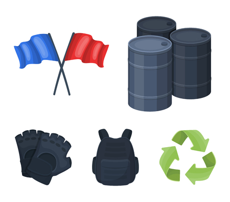 Protective vest, gloves and other equipment. Paintball single icon in cartoon style vector symbol stock illustration web. Illustration