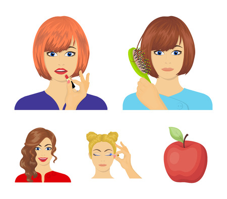 Hairdresser, cosmetic, salon, and other  icon in cartoon style.Means, hygiene, care icons in set collection.