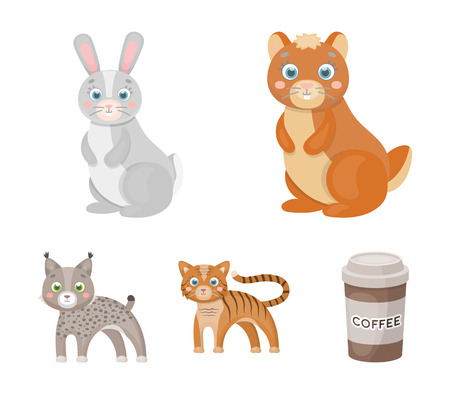 Animals, domestic, wild and other  icon in cartoon style. Zoo, toys, children, icons in set collection. Illustration