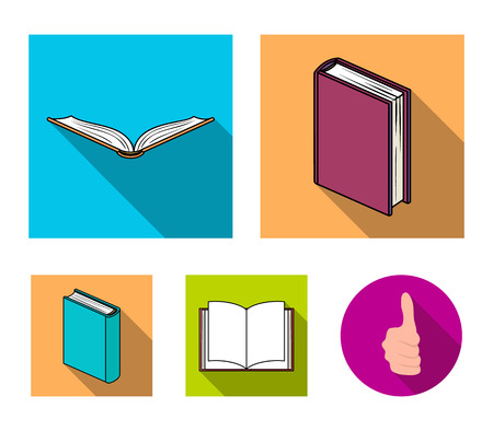 Various kinds of books. Books set collection icons in flat style vector symbol stock illustration . Stock Illustratie