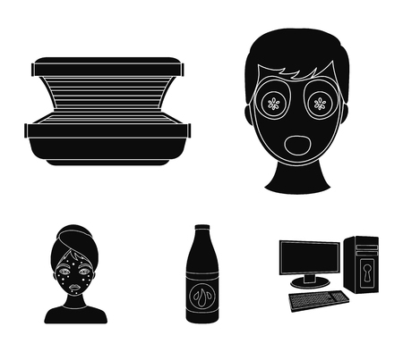 Skin Care set collection icons in black style vector symbol stock illustration web.