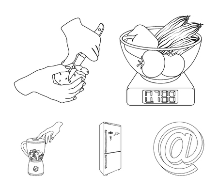 Cooking icons in set collection.