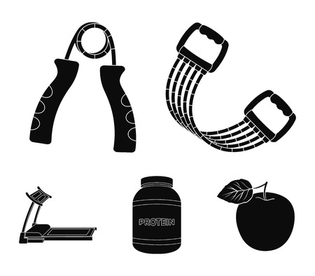 Gym and workout set collection icons in black style vector symbol stock illustration web.