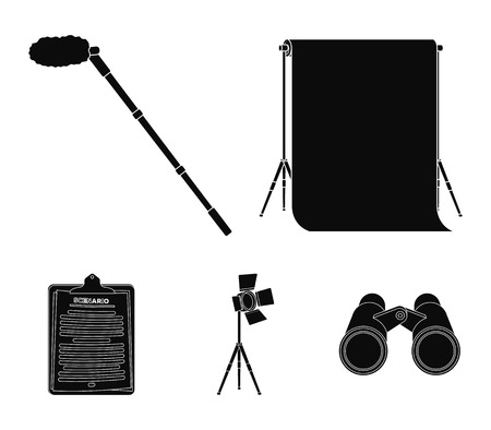 Making movies set collection icons in black style vector symbol stock illustration web.