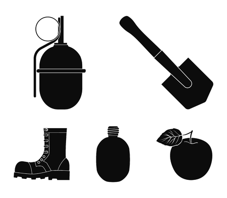 Military and army set collection icons in black style vector symbol stock illustration web.