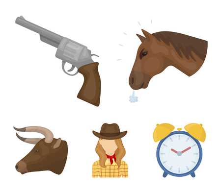 Rodeo set collection icons in cartoon style vector symbol stock illustration web.