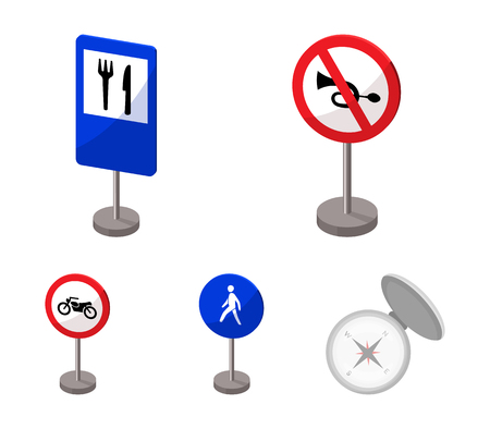 Warning and prohibition signs vector symbol stock web illustration.