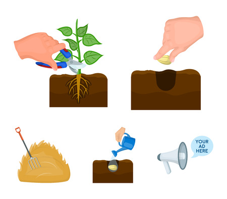 Garden, ecology, farmingand other web icon in cartoon style. Feed, plot, farm,icons in set collection.