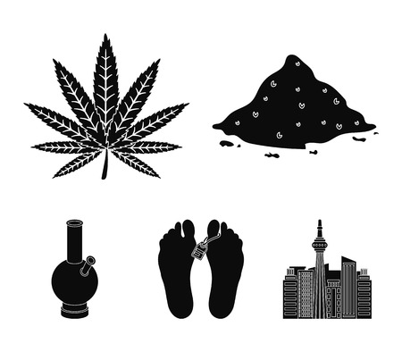 Drugs set collection icons in black style vector symbol stock illustration web.