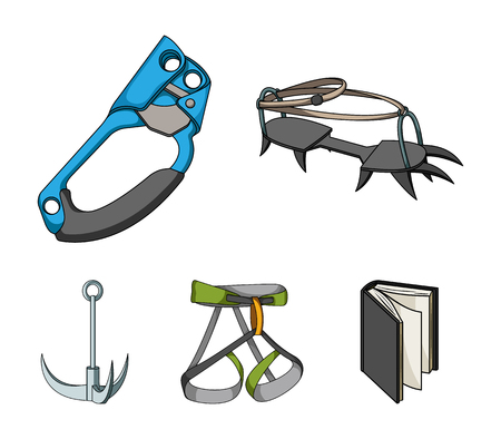 Mountaineering set collection icons in cartoon style vector symbol stock illustration web.