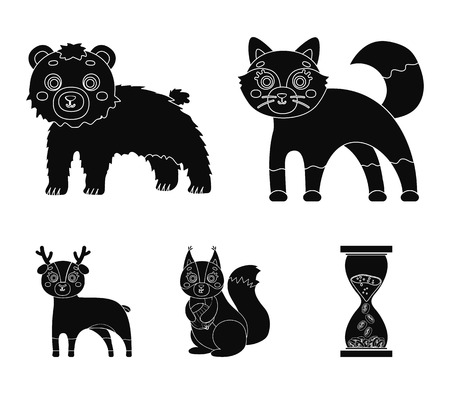 Zoo, nature, reserve and other web icon in black style. Artiodactyl, nature, ecology, icons in set collection.