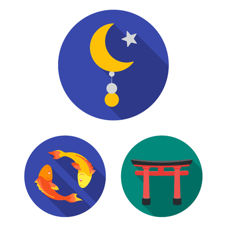 Religion and belief flat icons in set collection for design. Accessories, prayer vector symbol stock web illustration.