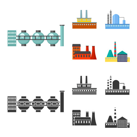 Industry, production.Factory set collection icons in cartoon,black style vector symbol stock illustration web. Ilustracja