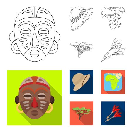 Set of travel concept icons in cartoon style illustration.