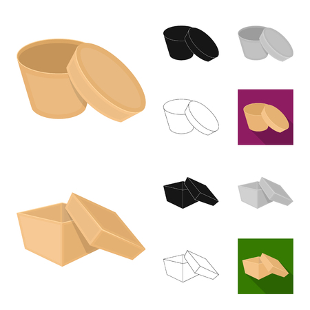 Different boxes in various designs set
