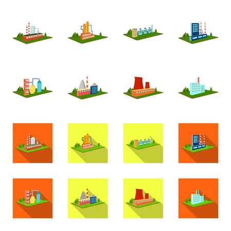 Processing factory,metallurgical plant. Factory and industry set collection icons in cartoon,flat style isometric vector symbol stock illustration web.