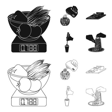 jam, diet, accessories and other web icon in black,outline style.cook, equipment, appliance, icons in set collection. Illustration
