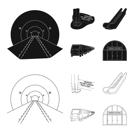 Electric, transport, equipment and other web icon in black,outline style.Public, transportation,machineryicons in set collection.
