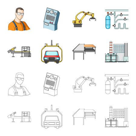 Automotive industry and other  icon in cartoon,outline style.New technologies icons in set collection. Иллюстрация
