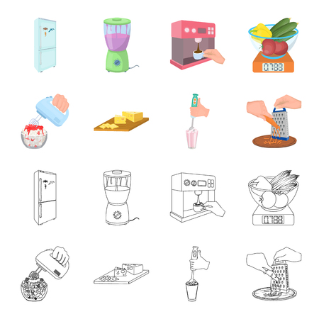 A jam, diet, accessories and other web icon in cartoon,outline style.cook, equipment, appliance, icons in set collection.