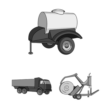 Agricultural machinery equipment image illustration