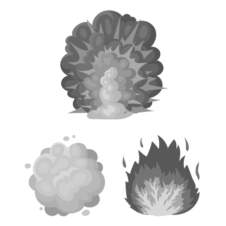 Different explosions image illustration