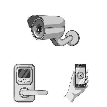 Modern gadgets appliances image illustration