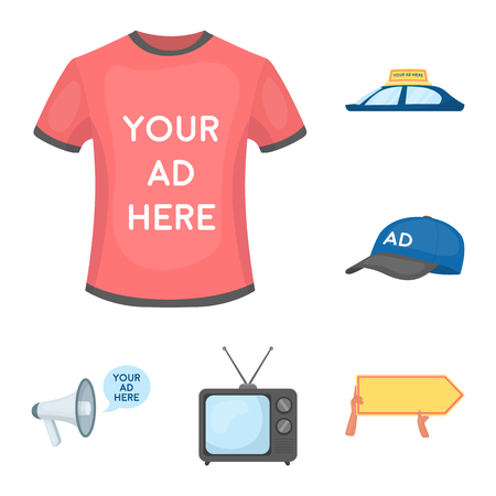 Production of advertising icon items illustration