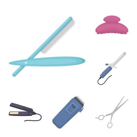 Tools of hairdresser image illustration