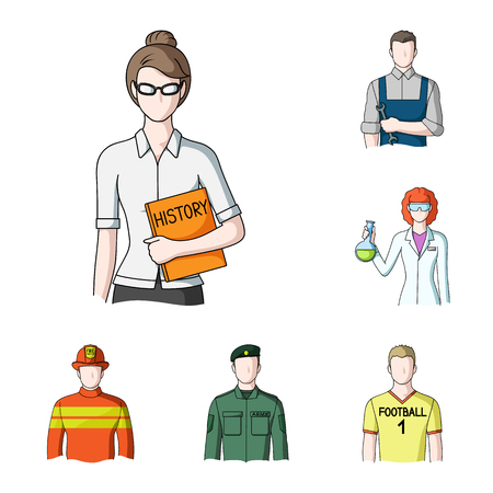 Different professions image illustration