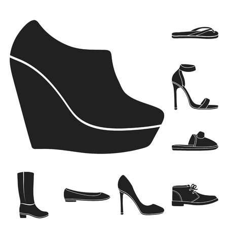 Shoes icons illustration 向量圖像