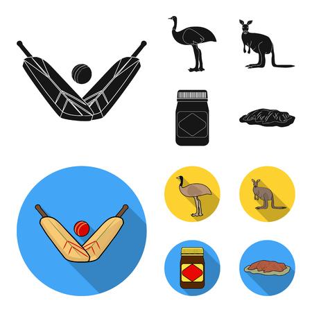 Australia set collection icons illustration