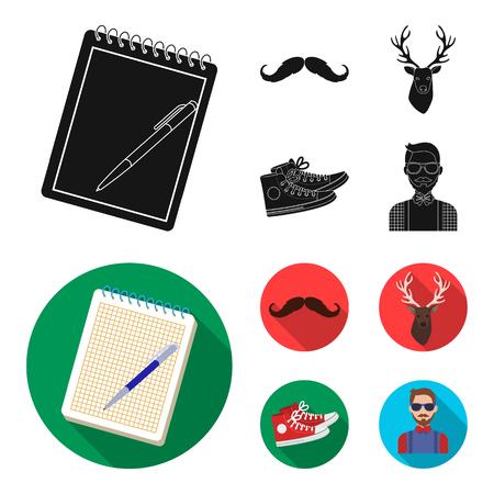 Hipster style set image illustration 向量圖像