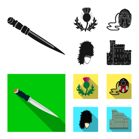 Scotland set collection icons illustration